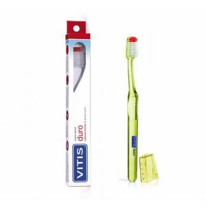 VITIS Medio es el cepillo ideal para: Eliminar el biofilm dental Limpieza entre los dientes gracias al perfil especial de sus filamentos Cepillo de uso diario