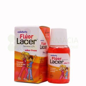 LACER COLUTORIO FLUOR SEMANAL 0,2% SABOR FRESA 100ML